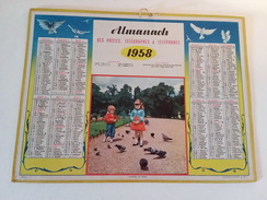 Calendrier Oller  Almanach Des PTT 1958 - Calendarios