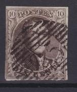 N° 6 Margé  Demi Lettres En Filigrane - 1851-1857 Médaillons (6/8)