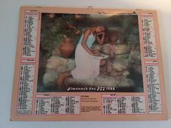 Calendrier Oller  Almanach Des PTT 1988 - Tamaño Grande : 1981-90