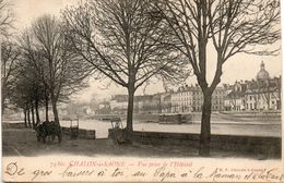 71. Chalon Sur Saone. Vue Prise De L'hopital. Coin Bas Gauche Abimé - Chalon Sur Saone