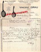 """75- PARIS- RARE LETTRE MANUSCRITE VINCENT GRAU-FABRICANT BANJO """" CLAVERO """" ATELIER FABRICATION A CHARENTONNEAU- 1929 - Petits Métiers"""