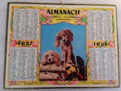 Calendrier Oller Almanach Des PTT 1957 - Calendarios