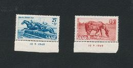 SAAR SARRE  1949 - Tag Des Pferdes Journée Du Cheval - Yvert 253/254 ** Neuf Sans Charnière MNH - 1947-56 Occupation Alliée