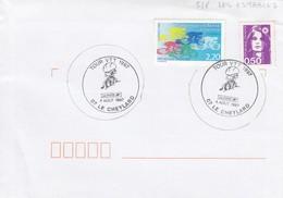 FRANCE LETTRE OBLITERATION RONDE TOUR VTT 1997 07 LE CHEYLARD - 4 AOÛT 1997 /1 - Mountain Bike