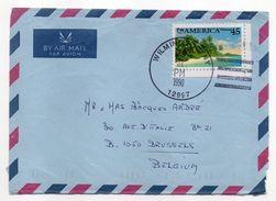 USA--1990--Lettre De WILMINGTON N.Y Pour BRUXELLES (Belgique)--timbre Seul Sur Lettre--beau Cachet - United States