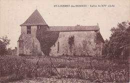 CP  Dept 24 SAINT LAURENT DES HOMMES Eglise Du XIV Siècle - Otros Municipios