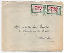 Maroc--1960--lettre De TANGER Pour PARIS (France)--paire Verticale De Timbres Sur Lettre--cachet Mécanique - Maroc (1956-...)