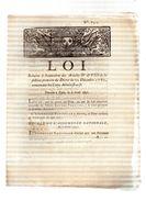 LOI Relative à L'exécution Des Articles IV & VII De La Section Première Du Décret Du 22 Décembre 1789.CARON,AMIENS.2 Pp - Documents Historiques