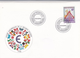 Luxembourg FDC 1986 Annee Europeenne De La Securite Routiere (DD7-24) - FDC