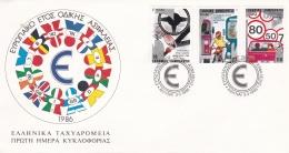 Greece FDC 1986 Traffic Safety  (DD7-24) - Other (Earth)