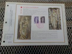FRANCE (1976) CROIX ROUGE église De Brou (ain) - Documents De La Poste