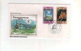 Timbres Yvert N° 376 Et 377 Sur Enveloppe Premier Jour Du 19 November 1973 - English Legend