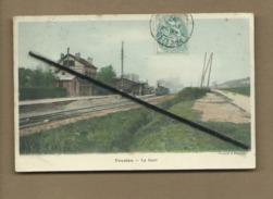 CPA -    Presles  - La Gare - Presles