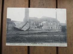 CPA WW1 GUERRE 1914 SOISSONS 02 DISTILLERIE DE VAUXROT INCENDIE PAR LES ALLEMANDS - Guerre 1914-18