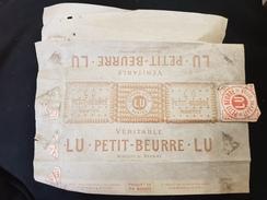 Papier D'emballage LEFEVRE UTILE NANTES 44 LU Véritable PETIT BEURRE Biscuit Au Beurre Paquet De 24  France Gateaux - Vieux Papiers