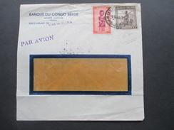 Belgisch Kongo Ruanda Urundi 1949 Luftpostbrief Usumbura Mit Stempel Bombay G.P.O. Banque Du Congo Belge - 1947-60: Briefe U. Dokumente