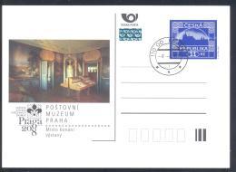 Czech Republic 2007 Postal Stationery Card: Post Museum Praha; Postal History; Art Paintings - Poste