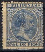 Sellos 2 4/8 Ctvos FILIPINAS Españolas, VARIEDAD Impresion, Num 81 * - Philipines
