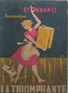 Plaque Publicitaire Cartonnée , 31 Cms X 22 Cms , Encaustique LA TRIOMPHANTE , 3 Scans , Frais Fr : 4.25 € - Targhe Di Cartone