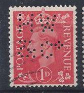 GB 1941  KG VI. 1d (o)  SG.486. Mi.222. (perfin.HW &Co) - Great Britain