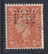 GB 1941  KG VI. 1d (o)  SG.488. Mi.224. (perfin.PR) - Great Britain