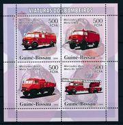 GUINÉ BISSAU 2006 - Camions De Pompiers Mercedes Benz - 4 Val + BF Neufs // Mnh - Guinée-Bissau