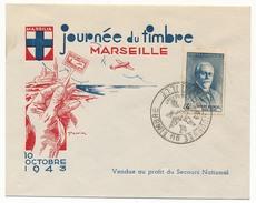 Enveloppe Illustrée DRAIM - Marseille Journée Du Timbre 1943 - Affr. 4F Blondel - Secours National - France