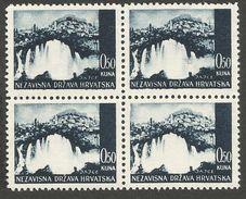 HR 1941-48 DEFINITIVE, CROATIA HRVATSKA, 4 X 1v, MNH - Kroatien