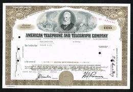 US American Telephone And Telegraph Company. - Aandelen