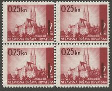 HR 1942-82 DEFINITIVE, CROATIA HRVATSKA, 4 X 1v, MNH - Kroatien