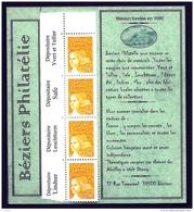 CARNET PRIVÉ : VENTE EXCLUSIVE LIMITÉE- RARE CARNET DE BEZIERS PHILATÉLIE DU SALON DE PRINTEMPS DIJON 2006- 2 SCANS - Dag Van De Postzegel
