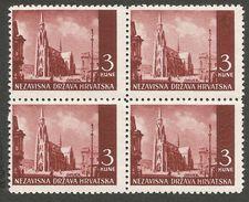 HR 1941-53 DEFINITIVE, CROATIA HRVATSKA, 4 X 1v, MNH - Kroatien