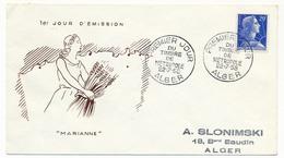 Enveloppe FDC - Premier Jour Du Timbre De Métropole - ALGER - 22/7/1958 - Algérie (1924-1962)