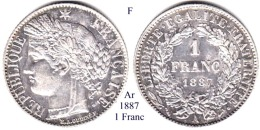 F-1887, 1 Franc - Francia