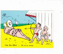 CPSM Femme Grosse Mer Bikini Tir à L' Arc Archer Garnement Humour Illustrateur DOIDY - Illustratoren & Fotografen