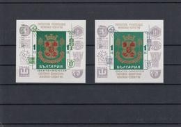 Bulgaria 04.05.1973 Mi # Bl 40-41 International Stamp Exhibition IBRA'73; Munich Summer Olympics 1972, OVPT - Verano 1972: Munich