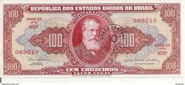 BRESIL100 CRUZEIROS ND1966-67 UNC P 185 A - Brésil