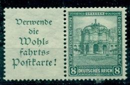 Deutsches Reich / Zusammendrucke. Deutsche Nothilfe Bauwerke, Nr. W 36 Falz * - Se-Tenant