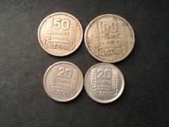 Lot Algérie 100 Francs 1952 50 Francs 1949 Et 20 Francs 1949 Et 1956 - Algérie