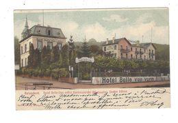 ROLANDSECK , Hotel Belle- Vue Nebst Gartenansicht ( Rheinseite )  Decker Söhne - Germania