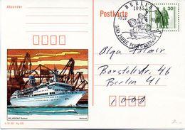 """DDR Amtl. GZS-Bildpostk. P109/02  30Pf. Oliv Mit Blindperforation """"Goethe-Schiller-Denkmal""""  SSt 13.9.1990 BERLIN - Cartes Postales - Oblitérées"""