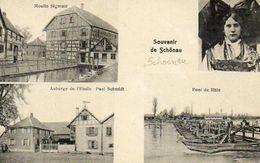CPA - Environs De MARCKOLSHEIM (67) - SCHOENAU - Carte Multi-Vues - Moulin Sigwald -Auberge De L'Etoile - France