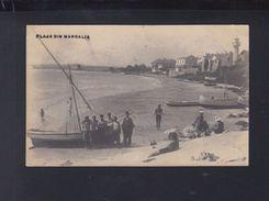 Romania PPC Plaja Din Mangalia 1931 - Roemenië