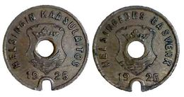 00105 GETTONE TOKEN JETON FICHA FINLAND HELSINKI GAS GASWERKE GASMUNZE 1925 - Entriegelungschips Und Medaillen