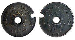 05032 GETTONE TOKEN JETON FICHA FINLAND HELSINKI GAS GASWERKE GASMUNZE 1941 - Entriegelungschips Und Medaillen