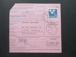 Schweden 1971 Internationale Postanweisung Nach Hamburg! Stempel: Boras. - Briefe U. Dokumente
