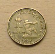MONACO 1 Franc 1926 De Qualité - 1922-1949 Louis II