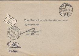 Suisse Lettre En Port Payé Herisau 1937 - Poststempel