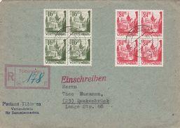 Allemagne Zone Française Lettre Recommandée Tübingen 1948 - Französische Zone