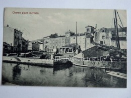 CHERSO CRES Quarnero Dalmazia Vecchia Cartolina Piazza Mercato AK Croazia - Croazia
